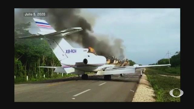 aeronave venezolana cargada con cocaina interceptada en en quintana roo