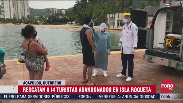 semar rescata a 14 turistas abandonados en la isla roqueta acapulco