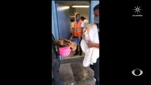 socorrista atiende parto en estacion del metro romero rubio de CDMX