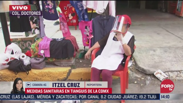 FOTO: 5 de julio 2020, tianguis de la colonia doctores sigue medidas sanitarias