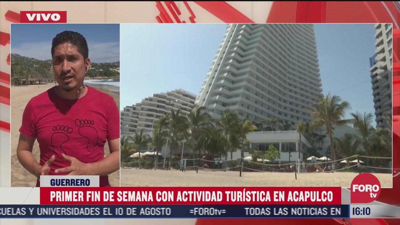 FOTO: 5 de julio 2020, turistas burlan filtros de seguridad para visitar playas de acapulco