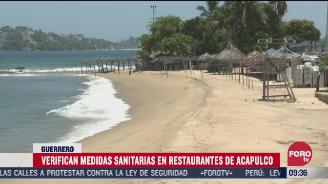verifican medidas sanitarias en restaurantes en acapulco