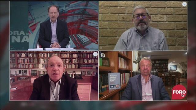 Javier Tello, Héctor Aguilar Camín, Jorge Castañeda y Macario Schettino analizan el video del armamento y vehículos del CJNG