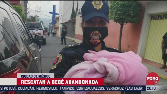 policías de la CDMX rescataron a una bebé abandonada en calles de Cuajimalpa