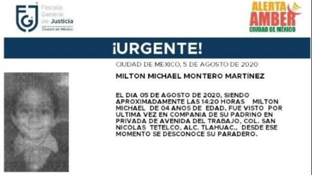 Activan Alerta Amber para localizar a Activan Alerta Amber para localizar a Susana Castañeda Castañeda. (Foto: @FiscaliaCDMX).