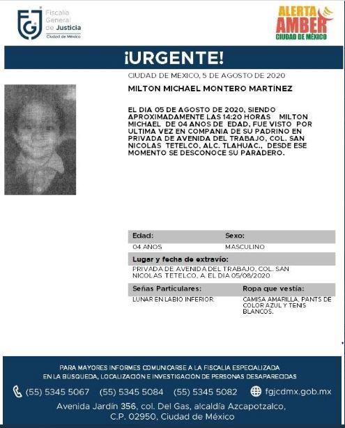 Activan Alerta Amber para localizar a Activan Alerta Amber para localizar a Susana Castañeda Castañeda. (Foto: @FiscaliaCDMX)