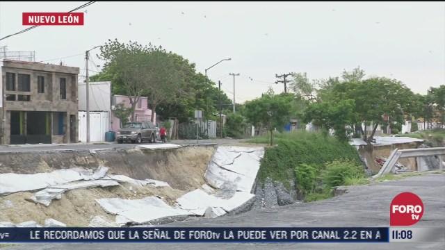 alerta en nl por posible derrumbe de muro de contencion en arroyo topo chico