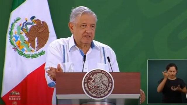 El presidente de México, Andrés Manuel López Obrador, en conferencia de prensa desde Acapulco, Guerrero