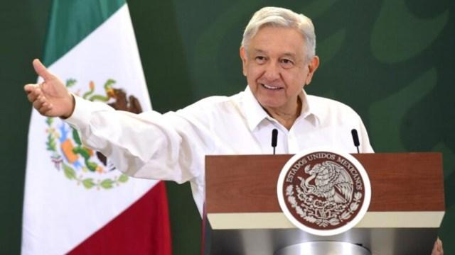 El presidente Andrés Manuel López Obrador en conferencia de prensa desde Nuevo León.