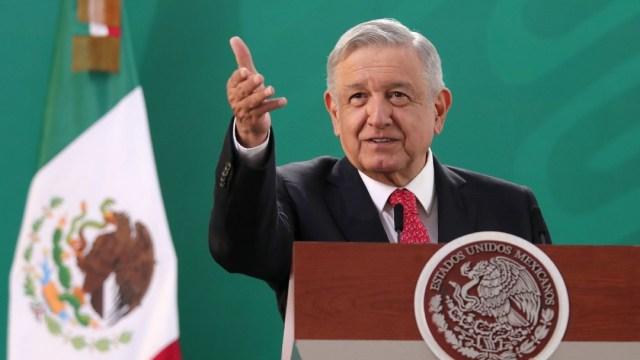 Andrés Manuel López Obrador, presidente de México, encabezó la conferencia mañanera en la ciudad de Querétaro