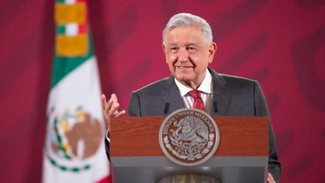 AMLO en conferencia de prensa en Palacio Nacional