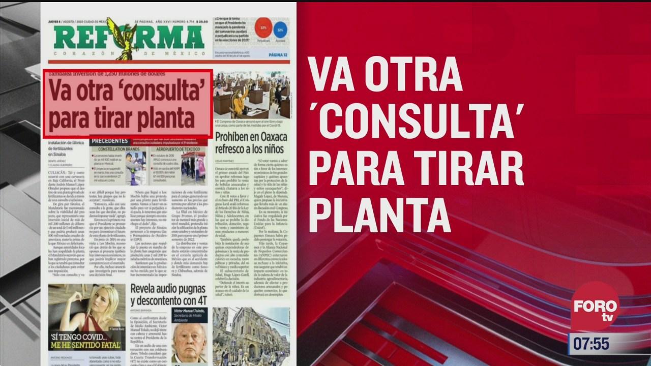 analisis de las portadas nacionales e internacionales del 6 de agosto del