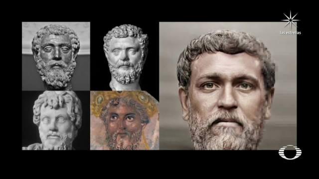 retratos realistas de 54 emperadores romanos diseñados por el artista canadiense Daniel Voshart
