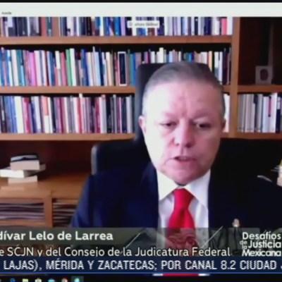 Arturo Zaldívar encabeza primer encuentro digital 'Desafíos de la Justicia Mexicana'