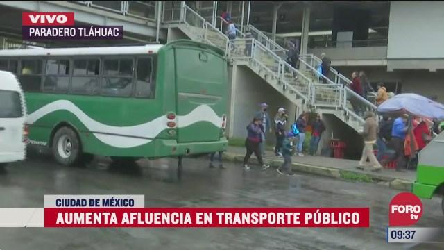 aumenta afluencia en transporte publico en la cdmx