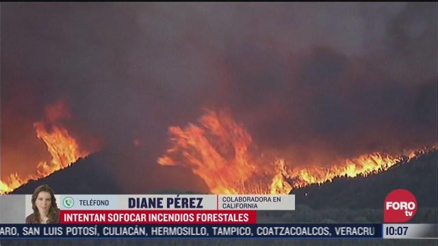 autoridades continuan laborando para sofocar incendios en california eeuu