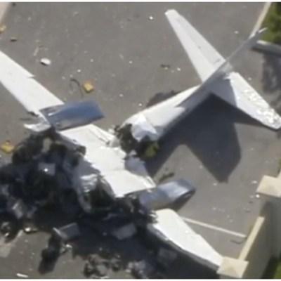 Mueren dos personas tras choque de avioneta contra edificio en Florida