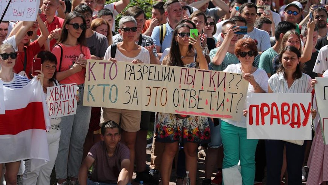 Bielorrusia: Continúan las huelgas durante la novena jornada de protestas