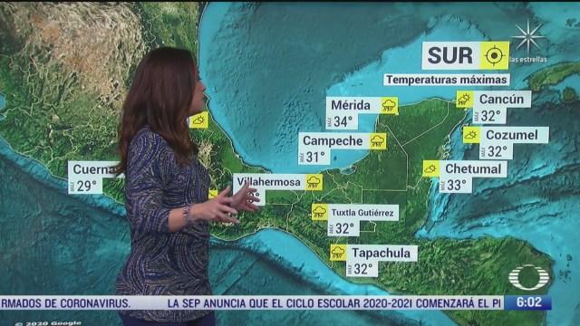 canal de baja presion provocara lluvias en gran parte de mexico