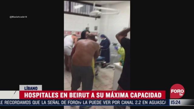 caos en hospitales de beirut tras explosiones