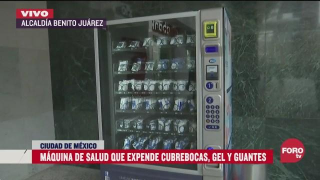 cdmx estrena maquinas expendedoras cubrebocas gel y guantes