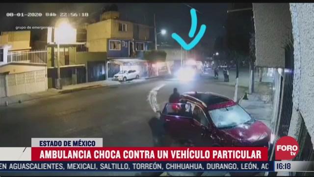 chocan ambulancia y vehiculo particular en nezahualcoyot