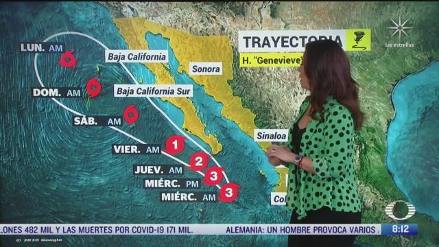 clima al aire alerta en baja california sur por huracan genevieve