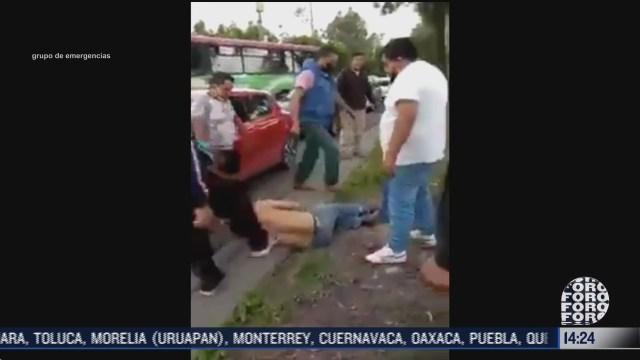 comerciantes golpean a un sujeto que intento robarlos