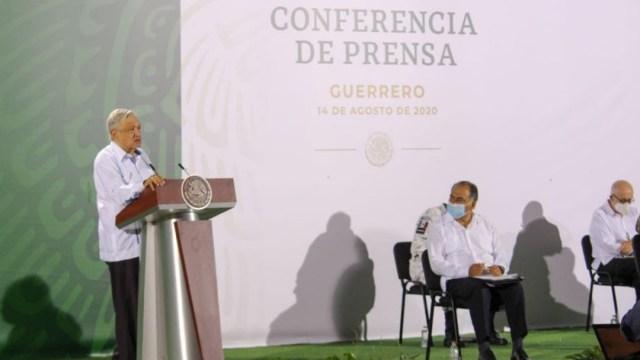 El presidente de México, Andrés Manuel López Obrador, en conferencia de prensa desde Guerrero.