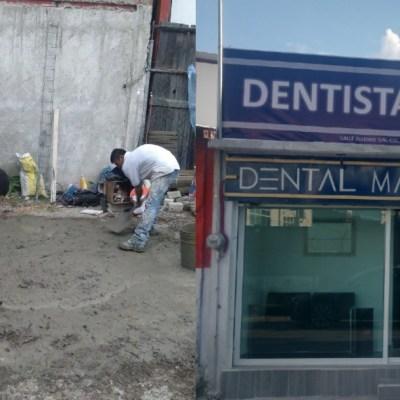 Dentista construye su propio consultorio y emociona a las redes sociales