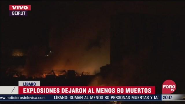 emergencia en beirut a horas de la explosion