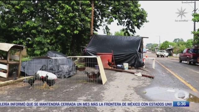 decenas de familias afectadas por desbordamiento de rio en veracruz