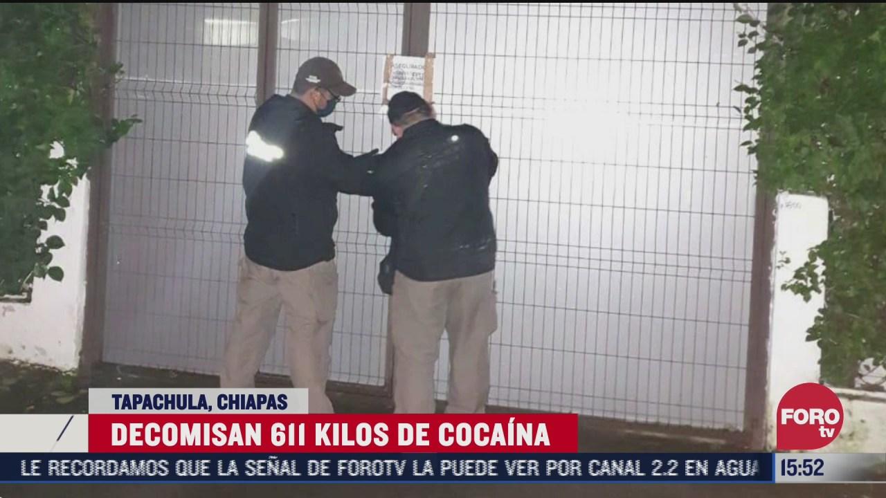 decomisan cuantioso cargamento de cocaina en chiapas
