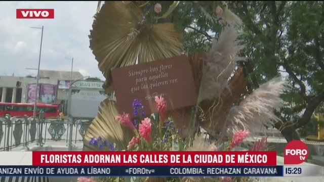 decoran metro bellas artes con flores