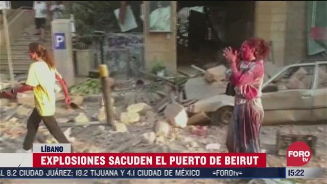 decretan luto en libano por explosiones en beirut