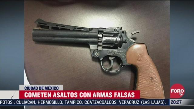 delincuentes usan armas falsas para lograr libertad