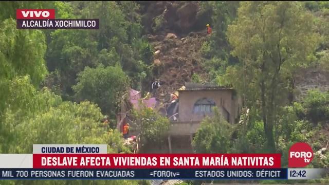 deslave afecta a viviendas en santa maria nativitas cdmx
