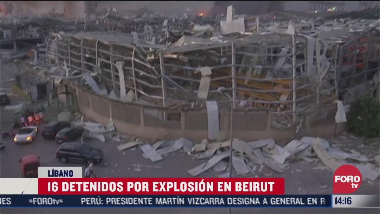 detienen a 16 funcionarios de beirut tras explosiones