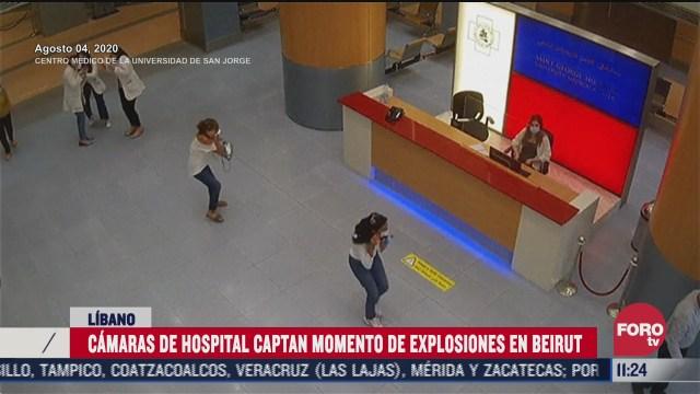 difunden imagenes de como se vivio en un hospital la explosion en beirut libano