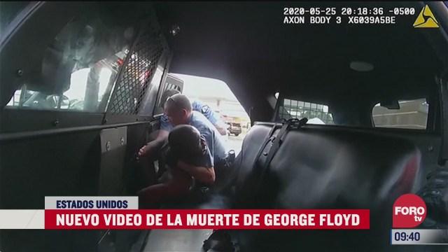 difunden nuevo video de la muerte del afroamericano george floyd