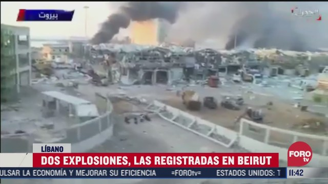 dos explosiones las registradas en beirut libano
