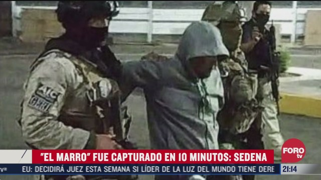 el marro fue capturado en 10 minutos explica el secretario de Sedena