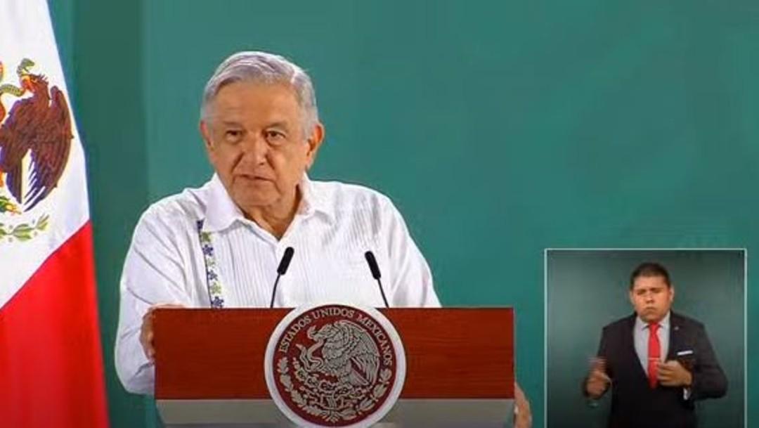 El presidente López Obrador en conferencia desde Nayarit