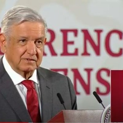 El presidente López Obrador en conferencia mañanera