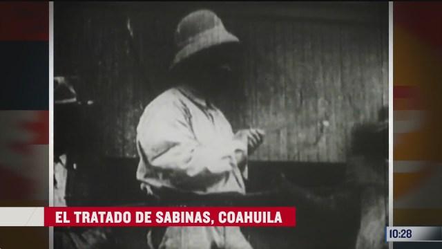 el tratado de sabinas coahuila