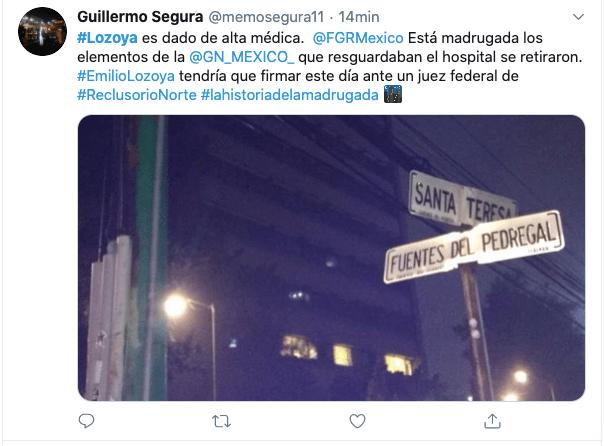 Emilio Lozoya es dado de alta y abandona hospital en CDMX