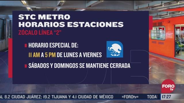 estas son las estaciones del metro cdmx con horario especial