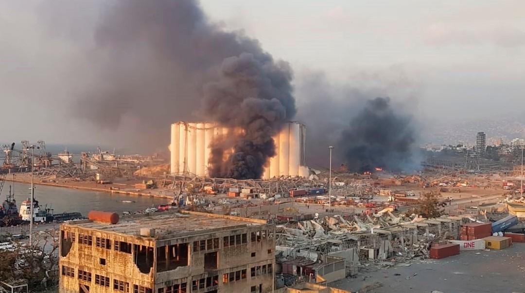 explosion en beirut, libano