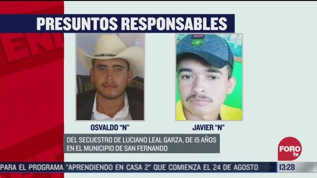 familiares presuntos involucrados en secuestro de menor en tamaulipas