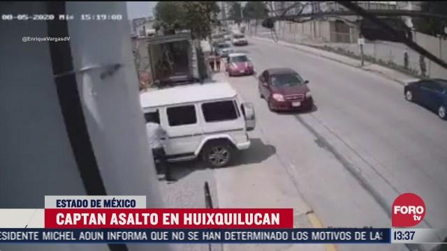 graban a asalto a conductor en municipio de huixquilucan edomex